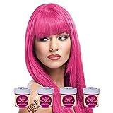 La Riche Directions Semi Permanent Carnation Pink Hair Colour Dye x 4 by La Riche