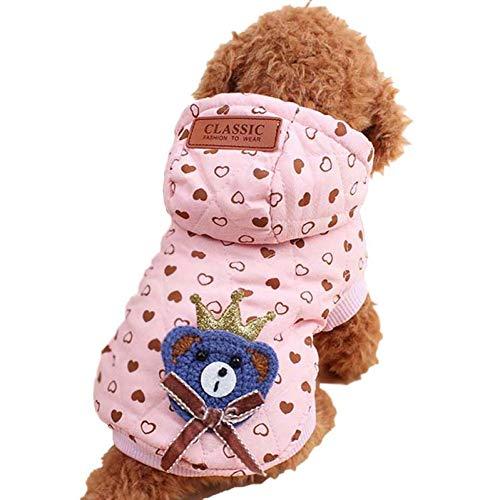 FIRECW Vêtements De Chien Vêtements pour Chien en Hiver Manteau Veste Manteau Vêtements À Capuchon Costume Chiot Vêtements Petit Chien Chihuahua Caniche Bichon Tenues Maltaises pour Animaux De Compag