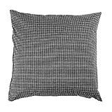 Hans-Textil-Shop Kissenbezug 40x40 cm Karo 2x2 mm Schwarz