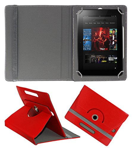 Acm Rotating 360° Leather Flip Case For Amazon kindle Fire Hd 8.9 Tablet Stand Cover Holder Red  available at amazon for Rs.179