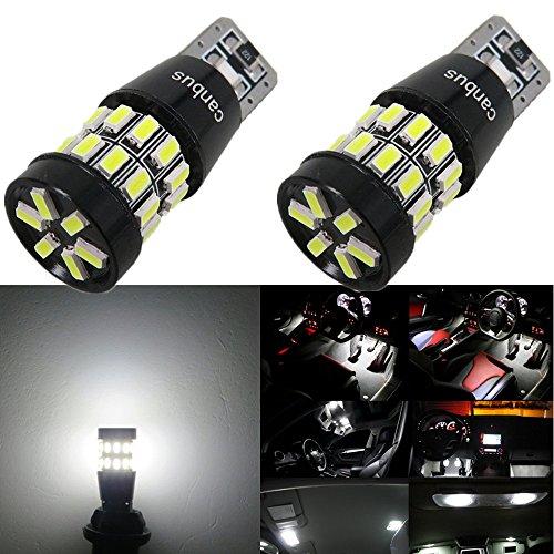 WLJH 2 stücke Weiße LED Birne 3014SMD 168 194 2825 Canbus Fehlerfreie LED Glühbirne für Auto / Motor Innen Dome Parkplatz Seiten Armaturenbrett Lizenznummer Platte Glühbirnen Lampe