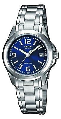 Casio LTP-1259PD-2AEF - Reloj de cuarzo para mujer, con correa de acero inoxidable, color plateado