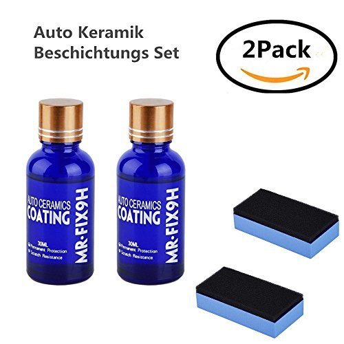 Auto Keramik Beschichtungs Set/Auto Kratzfeste Schutz Polish Nano Keramik Glas Beschichtung Autopolitur Lackpflege (2 pcs)
