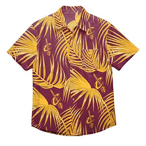 NBA Herren Hemd mit Blumenmuster, Herren, FLORAL Shirt, Cleveland Cavaliers, Medium -