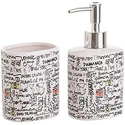 dcasa - Accesorios de baño modernos blancos de cerámica para cuarto de baño Fantasy