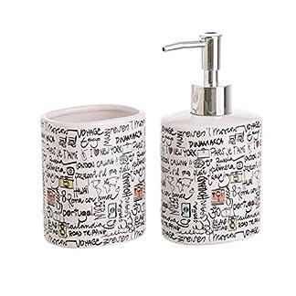 dcasa – Accesorios de baño modernos blancos de cerámica para cuarto de baño Fantasy