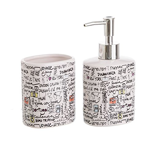 dcasa - Accesorios de baño modernos blancos de cerámica para cuarto de...