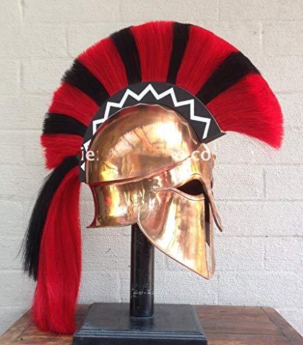 Korinthischer Helm (Replik) von Historicalmuseum - Für LARP/Liverollenspiele, mit Federbusch, Replik eines antiken griechischen Helmes, MS155  -