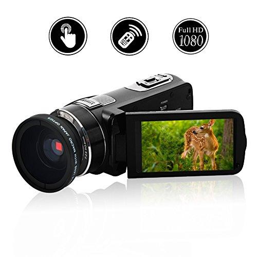 "Videokamera Camcorder Full HD 1080p @ 30fps Kamera 24.0MP Vogging Kamera 3 ""Touchscreen Digitalkamera16x Digitaler Zoom mit Weitwinkelobjektiv"