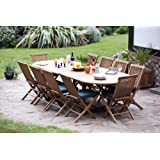 "The ""Monaco"" 10 Seater Top Grade SVLK Compliant Teak Set New 2016 Model"