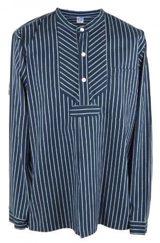 Fischerhemd Basic, Herren, XL, breiter Streifen -