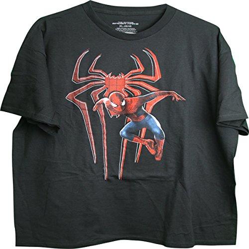 Die erstaunliche Spider-Man Jumping Spider Logo Hintergrund Erwachsene M?nner T-Shirt X-Large (Jumping Schwarzes Spider)