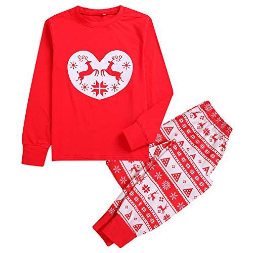 2 teile/satz Familie Weihnachten Pyjamas Set Erwachsene Kinder Mädchen Junge Mama Papa Nachtwäsche Nachtwäsche Passende Kleidung (Color : Father, Size : S)