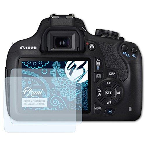 mpatibel mit Canon EOS 1200D / Rebel T5 Folie, glasklare Displayschutzfolie (2X) ()