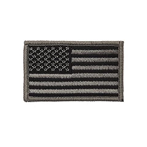 USA black Flag Patch Amerika FLAGGE Fahne Aufnäher Uniform gestickt Jacke US Army Navy Seals USAF Ranger ISAF Irak Vereinigte Staaten 7,5x5cm Aufnäher Patch #17403