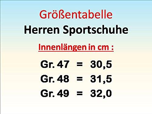 GIBRA® Herren Sportschuhe Übergröße, sehr leicht und bequem, dunkelblau/neonorange, Gr. 47-49 dunkelblau/neonorange