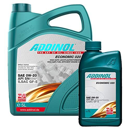 Addinol Motoröl 0W-20 Economic 020 5L + 1L