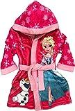 Frozen Eiskönigin Bademantel Kimono Gürtel Kapuze Morgenmantel pink (128)