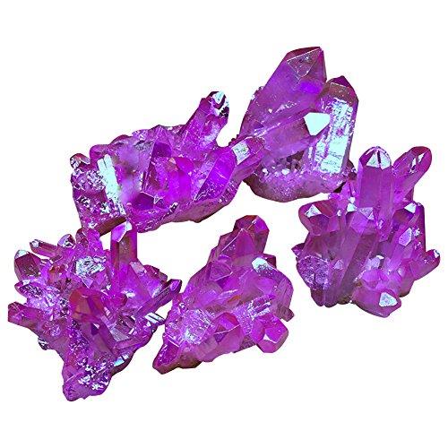 Unregelmäßige natürliche Titan lila Druzy Quarz Cluster Crystal Geode Edelstein Probe Heilung Crystal Rock Quarz Stein für Home Decor 0.07-0.11 - Welt Verändert Fotos, Die Die