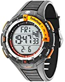 Timberland Men's Cowden Digital Watch with LCD Dial Display and Grey Rubber Strap 14502JPGYS/01