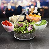 On Ice-Posate per insalata in acrilico, con 4 lati piatti Insalatiera e posate da insalata Insalatiera