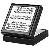 CafePress - Viking Prayer - Keepsake Box, Finished Hardwood Jewelry Box, Velvet Lined Memento Box