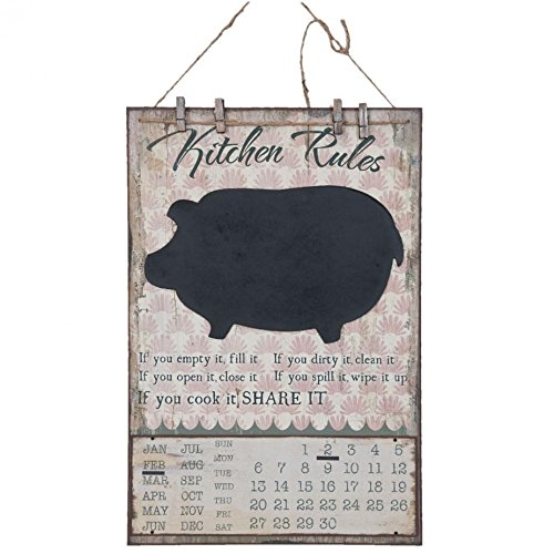 Deko Dekoration Kalender Dauerkalender Schwein Kreidetafel ca. 40 x 1 x 60 cm (Schwein Dekorationen)