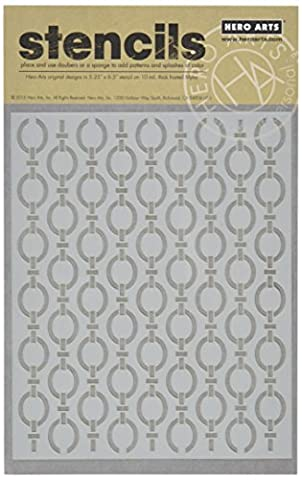 Basic Grey Adrift Frosted Mylar Stencil By Hero Arts-Repeating Loops