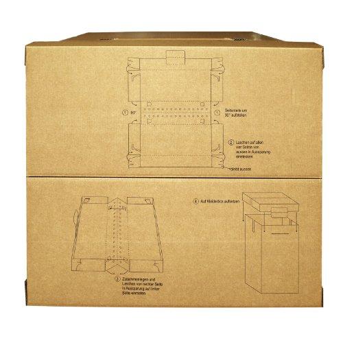 4 neue Kleiderboxen – Kleiderbox in Profi Qualität mit separatem Deckel incl Aufhängevorrichtung - 4