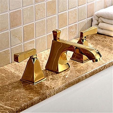 Modylee Commercio all'ingrosso Promozione Torneira Banheiro Cozinha Ro binet lussuoso bagno toccare Mixer 8 pollici diffuso rubinetto bagno dorato