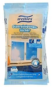 Wetties Lot de 2 paquets de 30 chiffons de nettoyage humides pour vitres