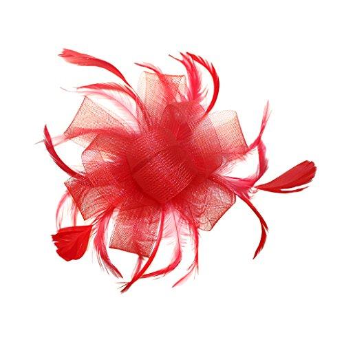 FORLADY Hanf-Garn-Haar-Zusatz-Feder-Kopf-Blumen-Ineinander greifen-Stirnband-wildes Kleid zeigen Braut-Kopfschmuck-Cocktail-Hut-Blumen-Haar-Klipp-Hut - Herbst-bands