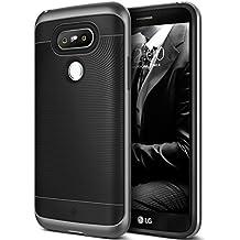 Coque LG G5, Caseology [Série Wavelength] Ultra Mince Protection à double couche résistant aux chocs [Noir - Black] Housse Etui Coque pour LG G5 (2016)