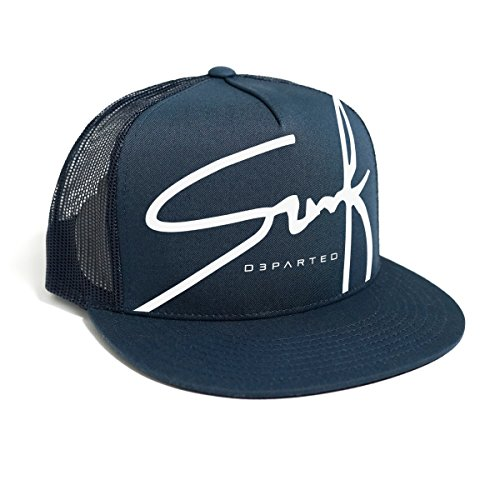 DEPARTED Herren Mesh Trucker Hat mit Print / Aufdruck - Snapback Cap - No. 23, coastal navy