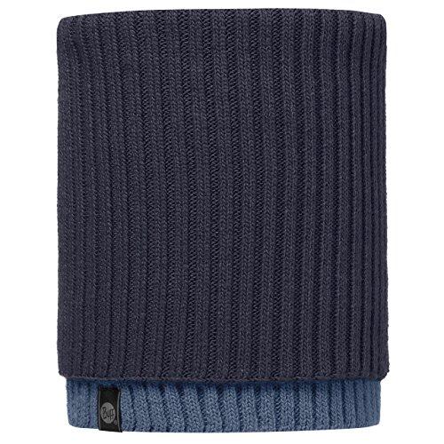 Buff - scaldacollo lavorato a maglia, unisex, neckwarmer knitted, snud dark navy/navy, l