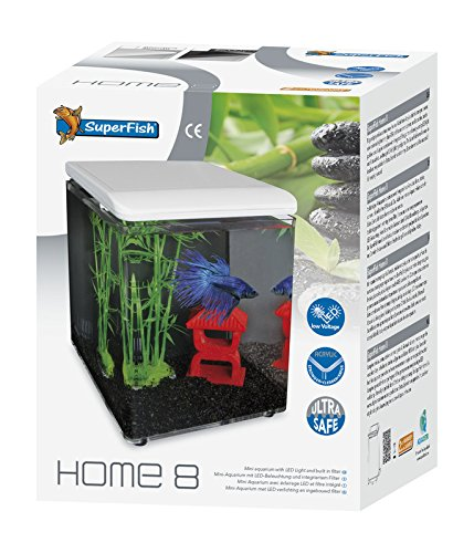 SuperFish Home 8 Mini-Aquarium in Weiß