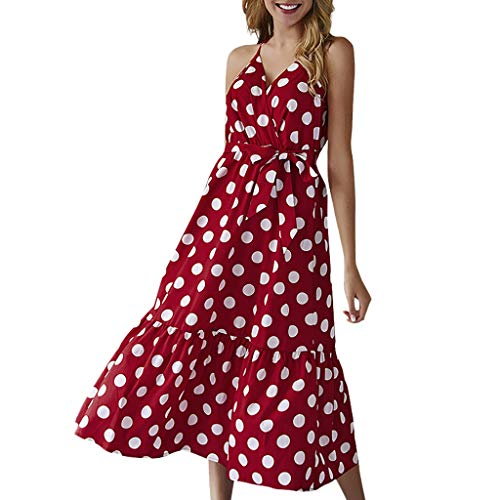 Deep lovly Frauen Tube Top Damen Modekleid Sommer Cocktailkleid Party Abendkleider Sexy Sling Minirock Ärmelloses V-Ausschnitt Bedrucktes Kleid Freizeit Strandkleid Elegantes Kleid Ladies -