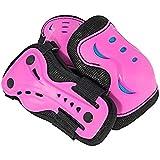 SFR Skates Essentials Triple Pad Set Protecciones, Unisex Adulto, Rosa (Hot Pink), L