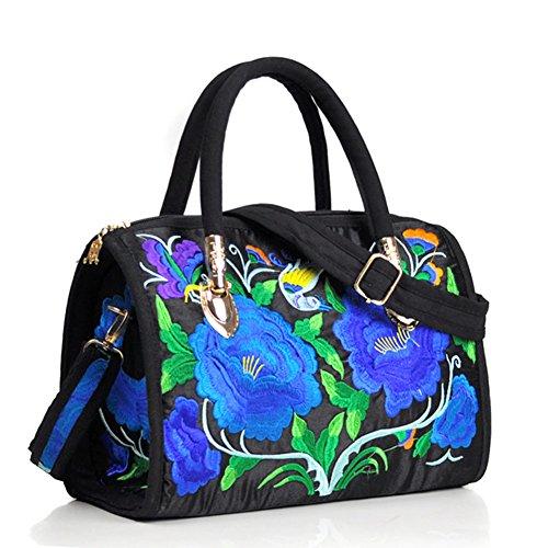 Peony ricamo Handbags–Memorecool Portable design for Girls Lady stile elegante e bella sentimenti 470g flower8 flower9