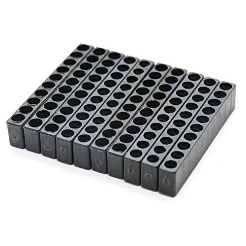Maisho Schraubendreherkopf-Aufbewahrungskoffer mit 10 Löchern aus Kunststoff, Sechskantschaft, Schraubendreher-Bits, 10 Stück