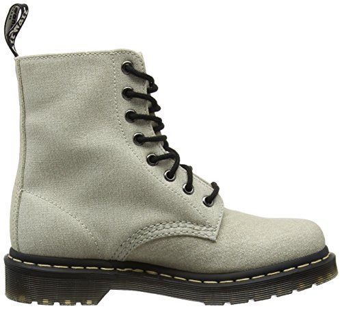 Dr. Martens Page Mix, Stivaletti Donna Avorio (Bone/porcelain Washed Canvas/hi Suede Wp)