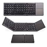 #7: Leoie 3-Fold- Keyboard Ultra Thin Light ABS Mini Wireless Bluetooth Keyboard Touchpad Windows Android