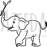 A3 'Baby Elefant' Wandschablone / Vorlage (WS00019842)