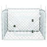 Iris Ohyama, parc pour chien / cage d'extérieur /  enclos / chenil 4 éléments  - Pet Circle - H-604, plastique, blanc, 6,3kg, 90 x 90 x 60 cm