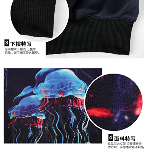 THENICE Femme Sweat-shirts Manches Pulls Jellyfish