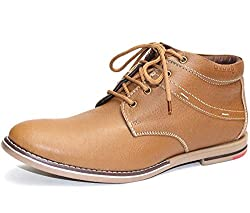 Guava Tan High Ankle Leather Shoe