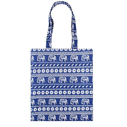 Damen Schulter Handtasche Mädchen Casual Tribe Tasche Große Kapazität Wochenende Tote Shopper Geldbörse Mummy Wickeltasche (Blau Elefant) (Um Hobo)