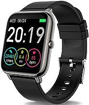 Rinsmola Smartwatch Orologio Fitness Uomo Donna Smart Watch Contapassi Cardiofrequenzimetro da Polso, Smartban