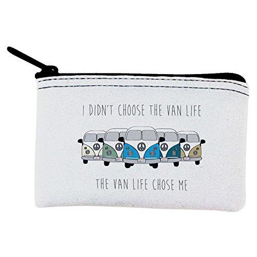 Hippie-Van wähle ich nicht die Van Leben Zip Münze Geldbörse Multi Standard Einheitsgröße