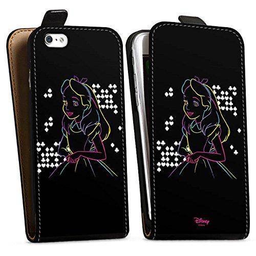 Apple iPhone 8 Tasche Hülle Flip Case Disney Alice im Wunderland Geschenke Downflip Tasche schwarz
